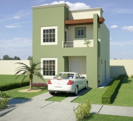 Casas Color Verde Exterior