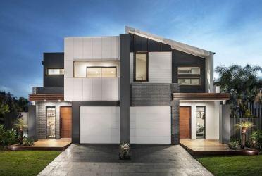 casas fachadas modernas pisos dos colores casa fachada gris blanco exterior imagenes modelos modernos grises tipos moderna duplex modern negro