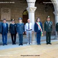 Il sindaco Giuseppe Argentieri accoglie la delegazione brasiliana a Vergato per commemorare la FEB (Força Expedicionária Brasileira)