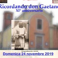 Labante commemora don Gaetano Tanaglia, domenica 24 novembre XI° anniversario