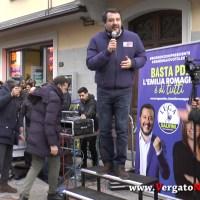 Matteo Salvini a Vergato - Piazza Capitani della Montagna 21/1/2020