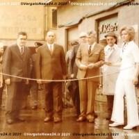 Inaugurazione a Vergato con Franco Nanni, Antonio Comani, il tenente D'Urso e una dama in bianco