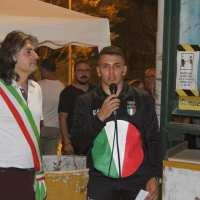 Marco Suppini rientra da Tokyo2020 - Vergato lo festeggia
