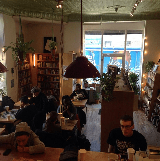 Topos bookstore cafe visitors