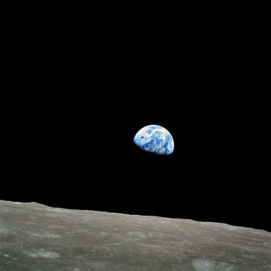 2. December 24, 1968 - Earthrise - NASA - Apollo 8 Crew: Frank Borman, James Lovell and William Anders