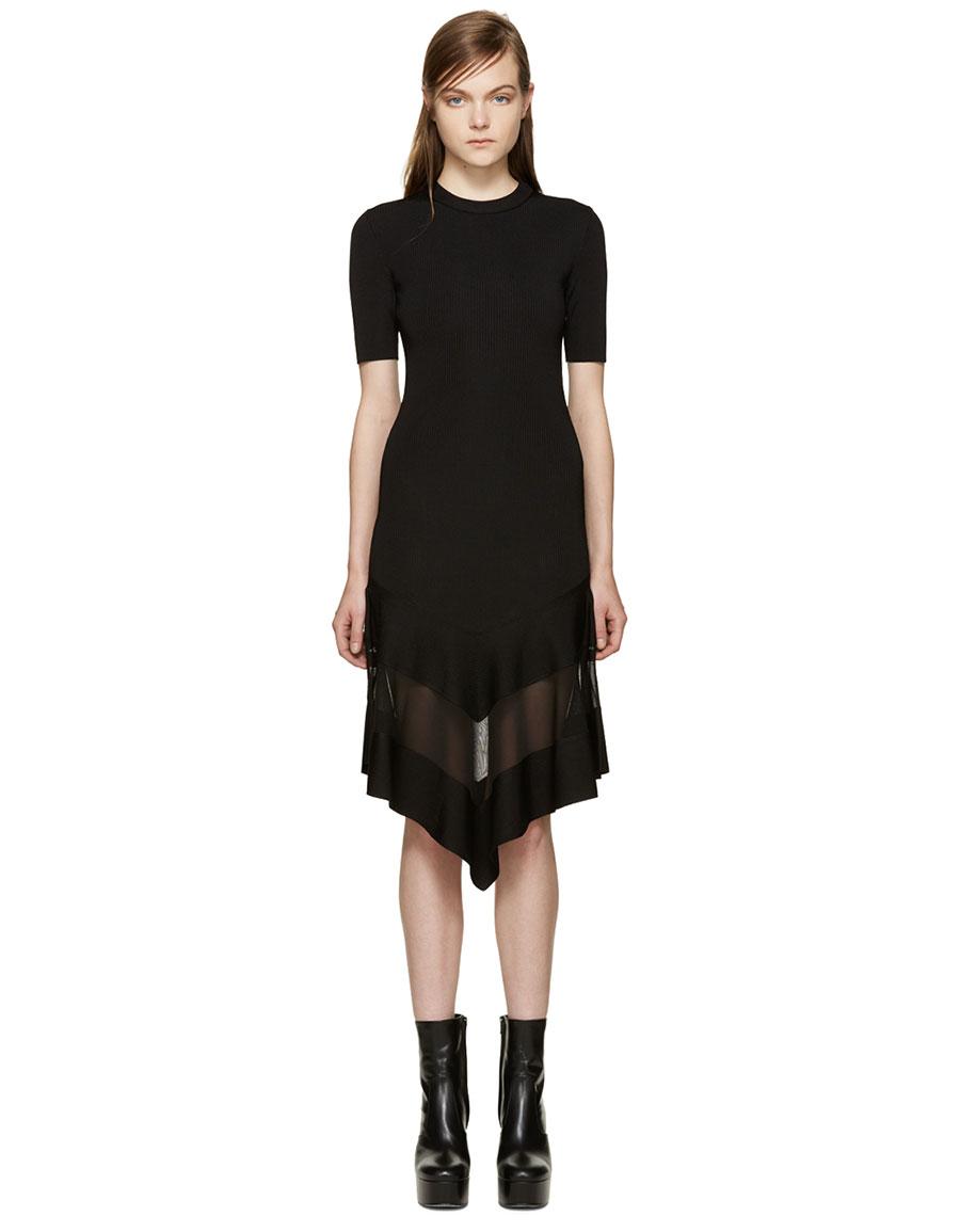 GIVENCHY Black Sheer Panel Dress