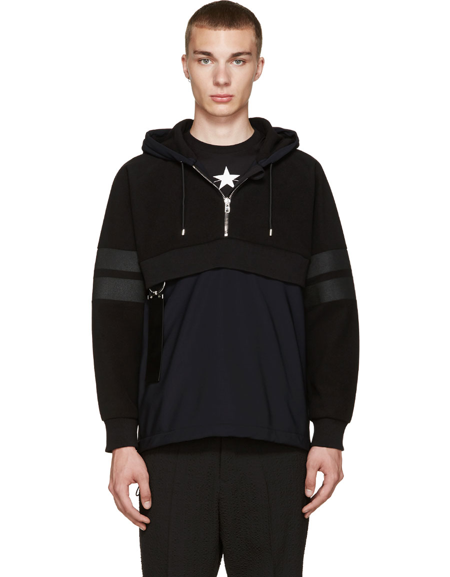 GIVENCHY Black Technical Hoodie