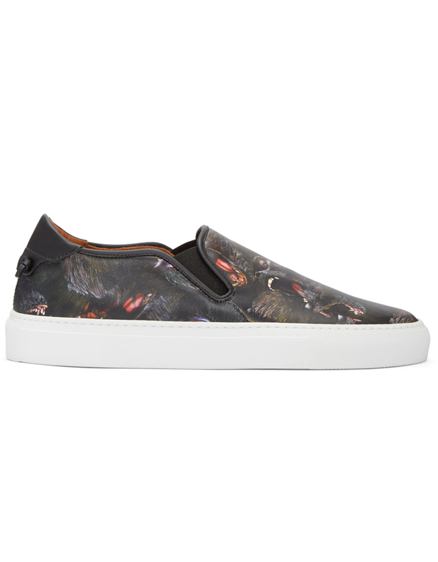 GIVENCHY Black Monkey Skate Slip On Sneakers