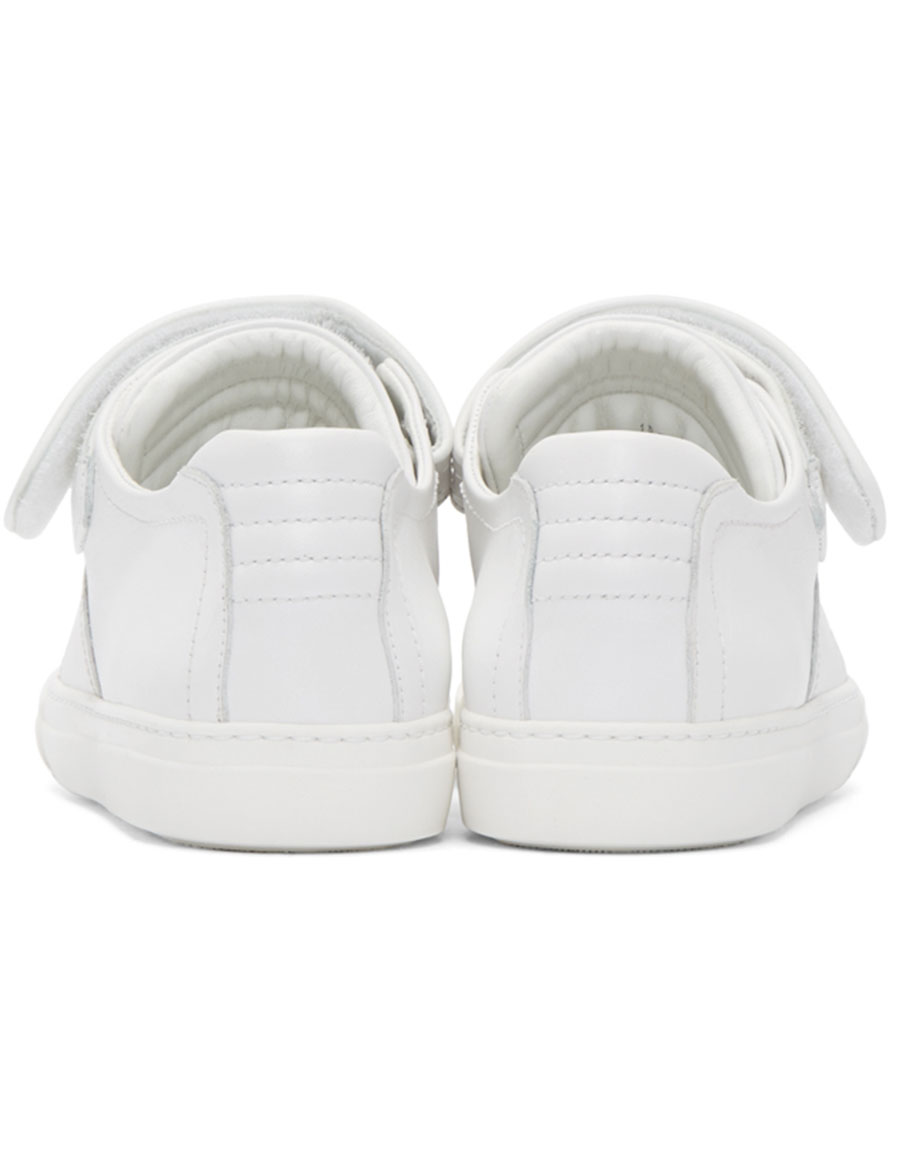 PIERRE HARDY White Leather Tennis Sneakers