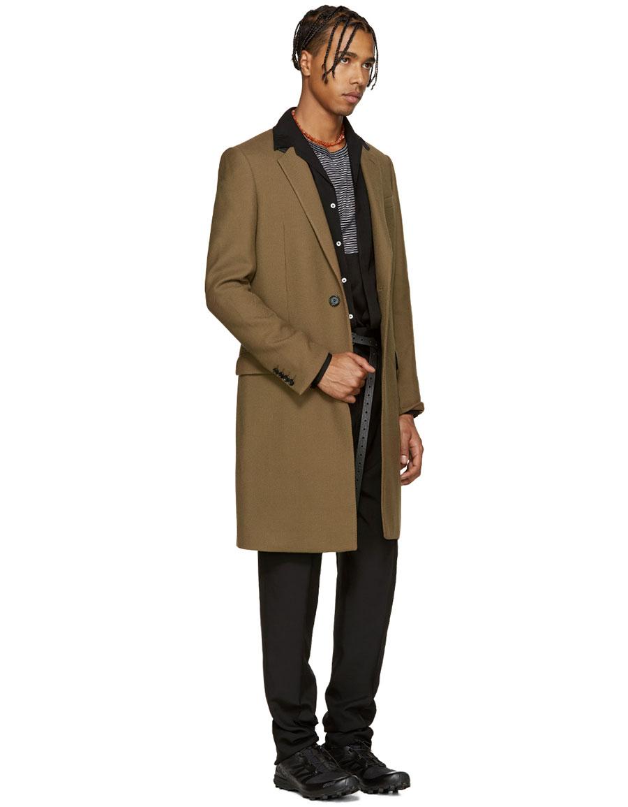 LANVIN Tan Wool Coat