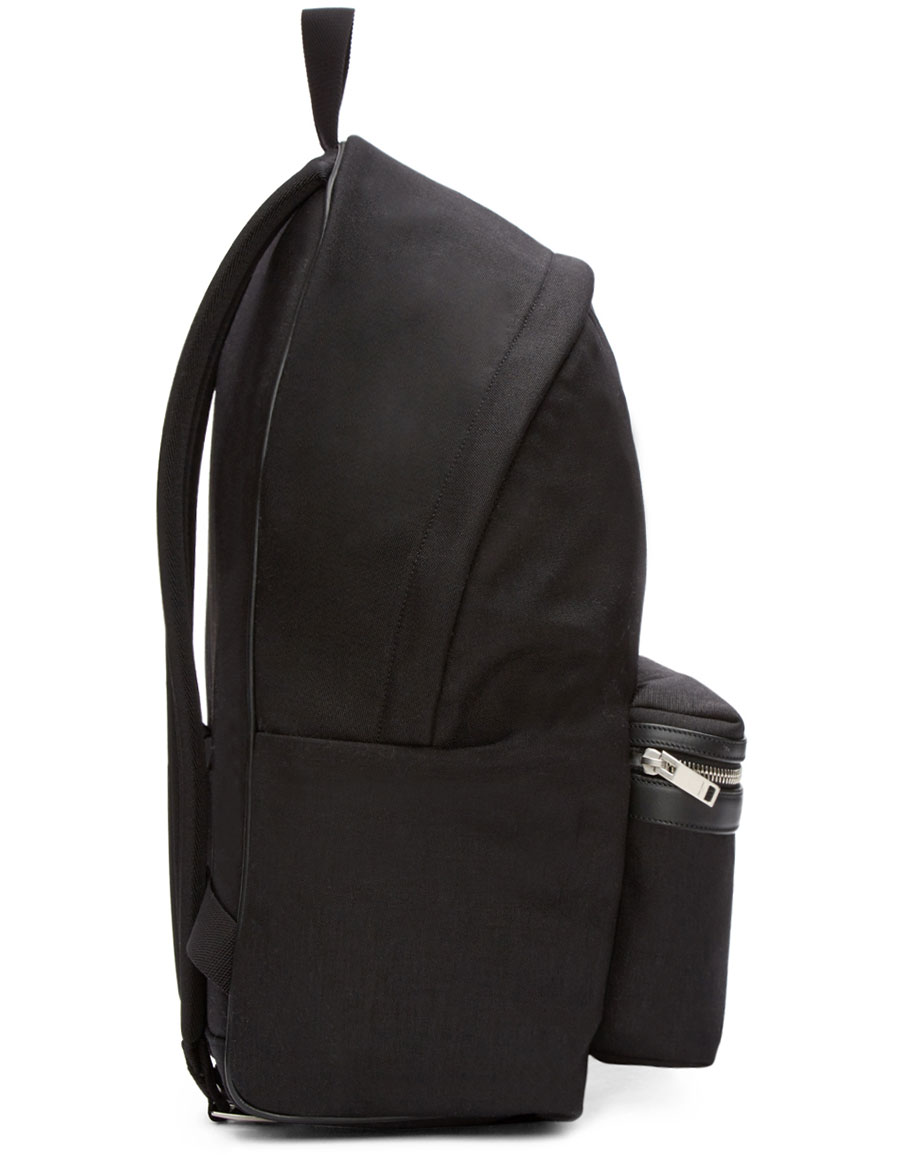 SAINT LAURENT Black Canvas Backpack