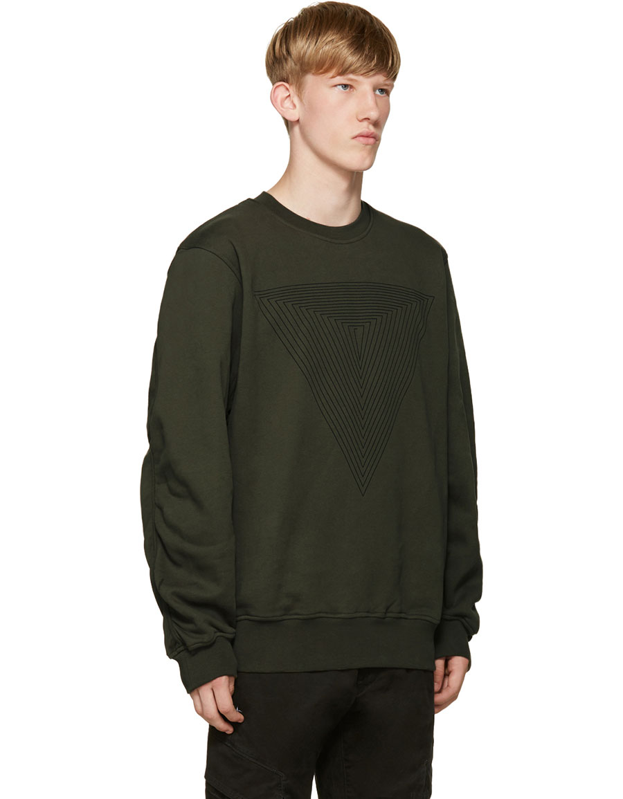 PUBLIC SCHOOL Green Stoma Triangle Sweatshirt