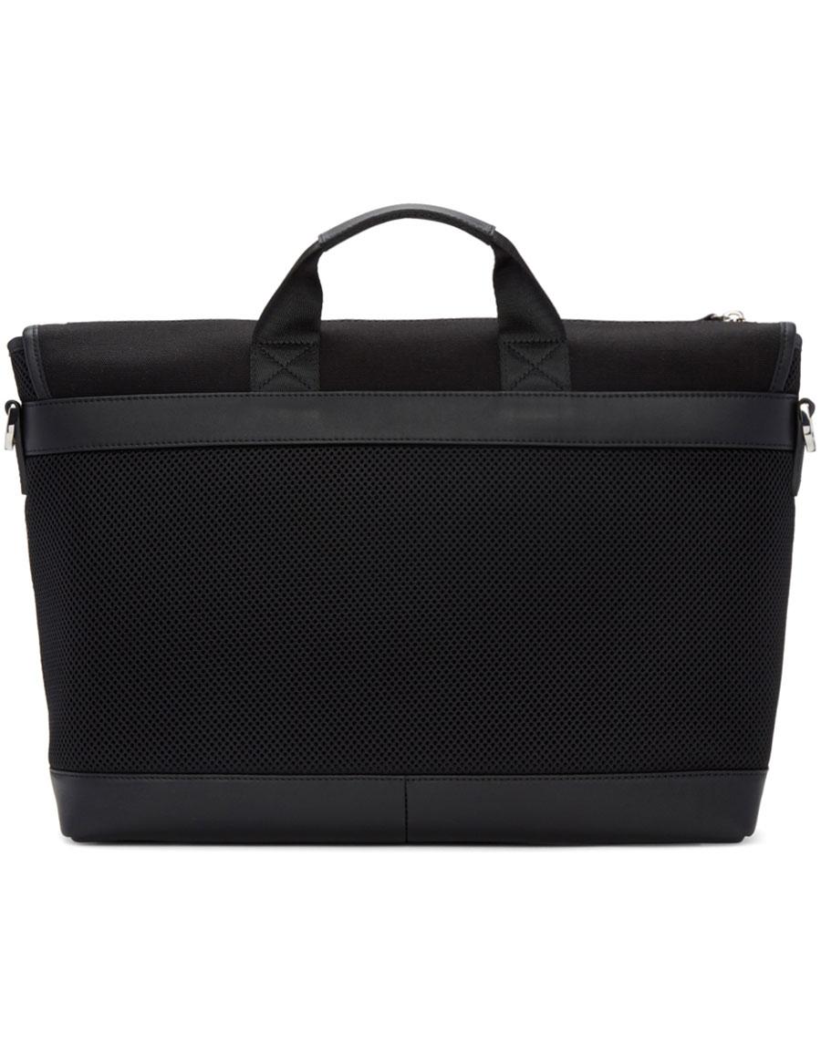 WANT LES ESSENTIELS Black Canvas Jackson Messenger Bag
