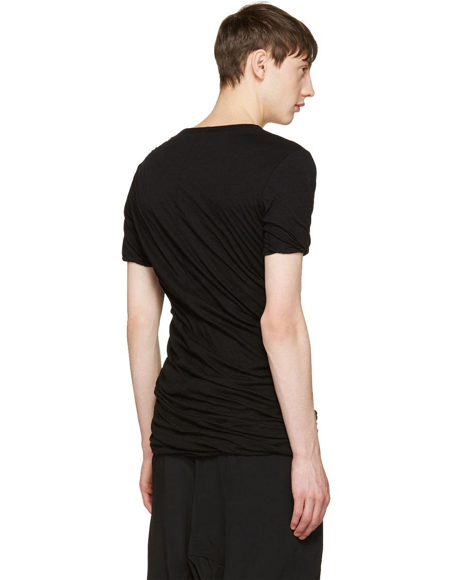 RICK OWENS Black Double T Shirt