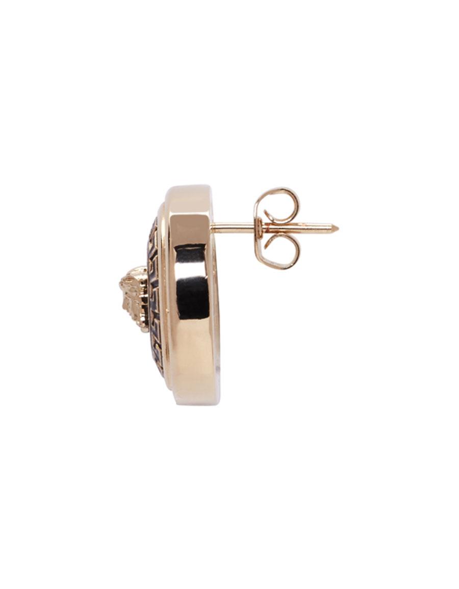 VERSACE Gold Enamel Medusa Earrings
