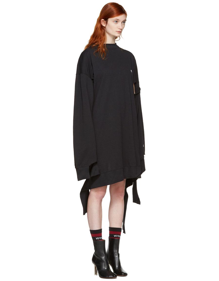 VETEMENTS Black Champion Edition In Progress Dress