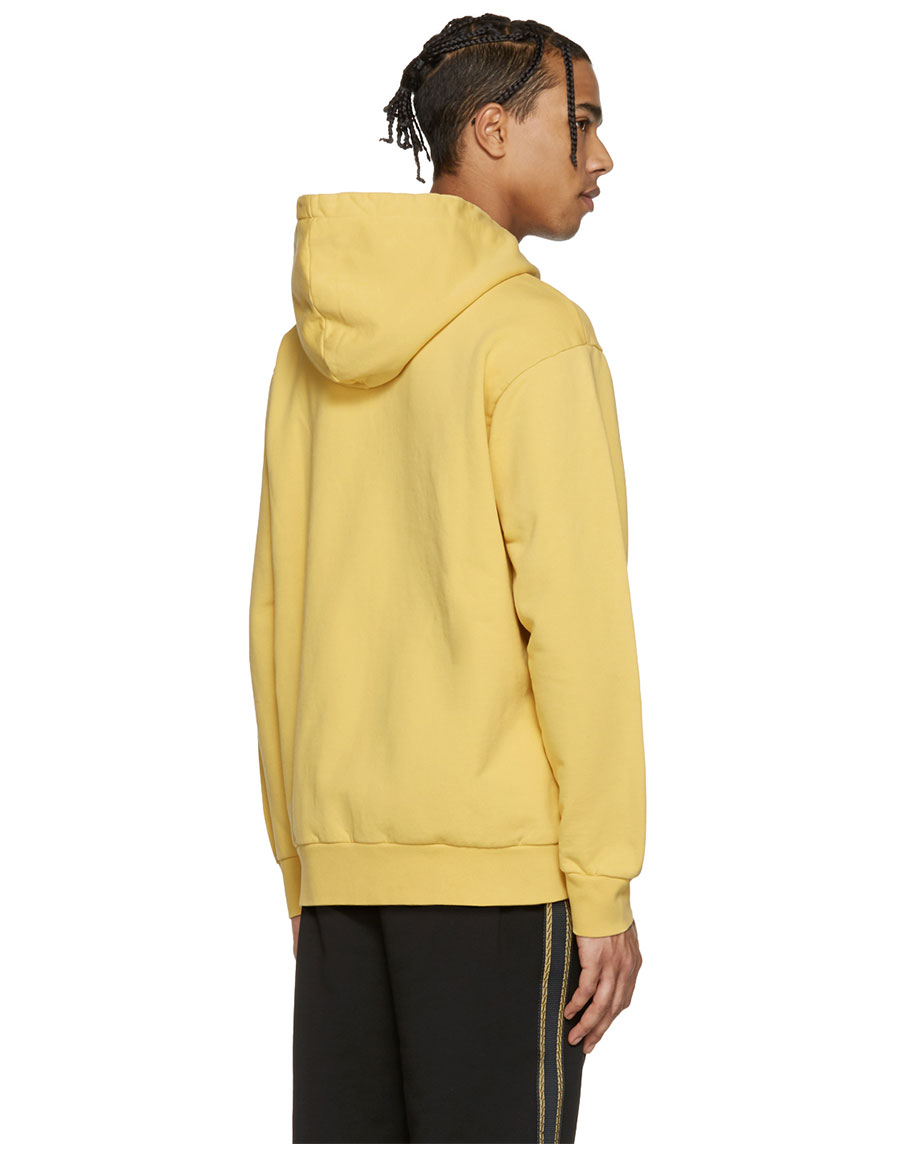 PALM ANGELS Yellow Smiling Hoodie