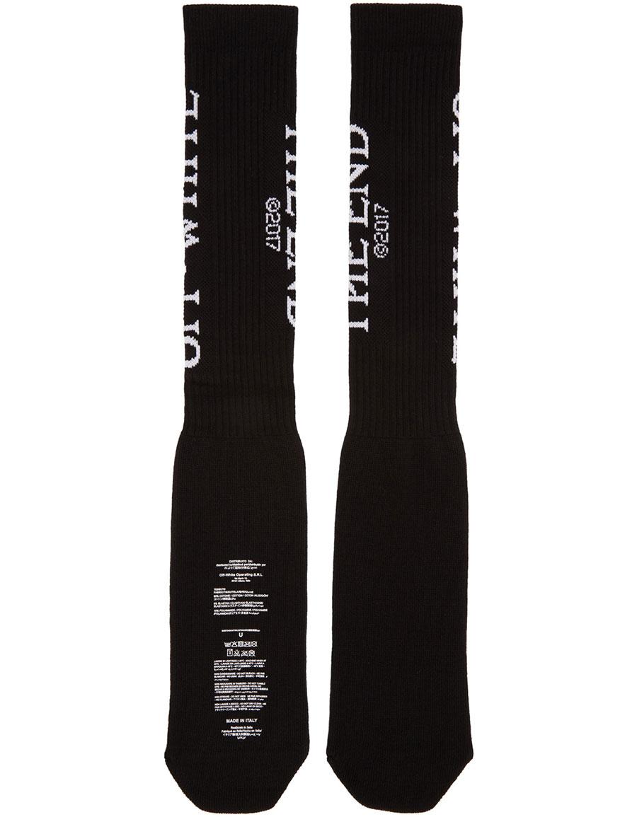 OFF WHITE Black 'The End' Socks