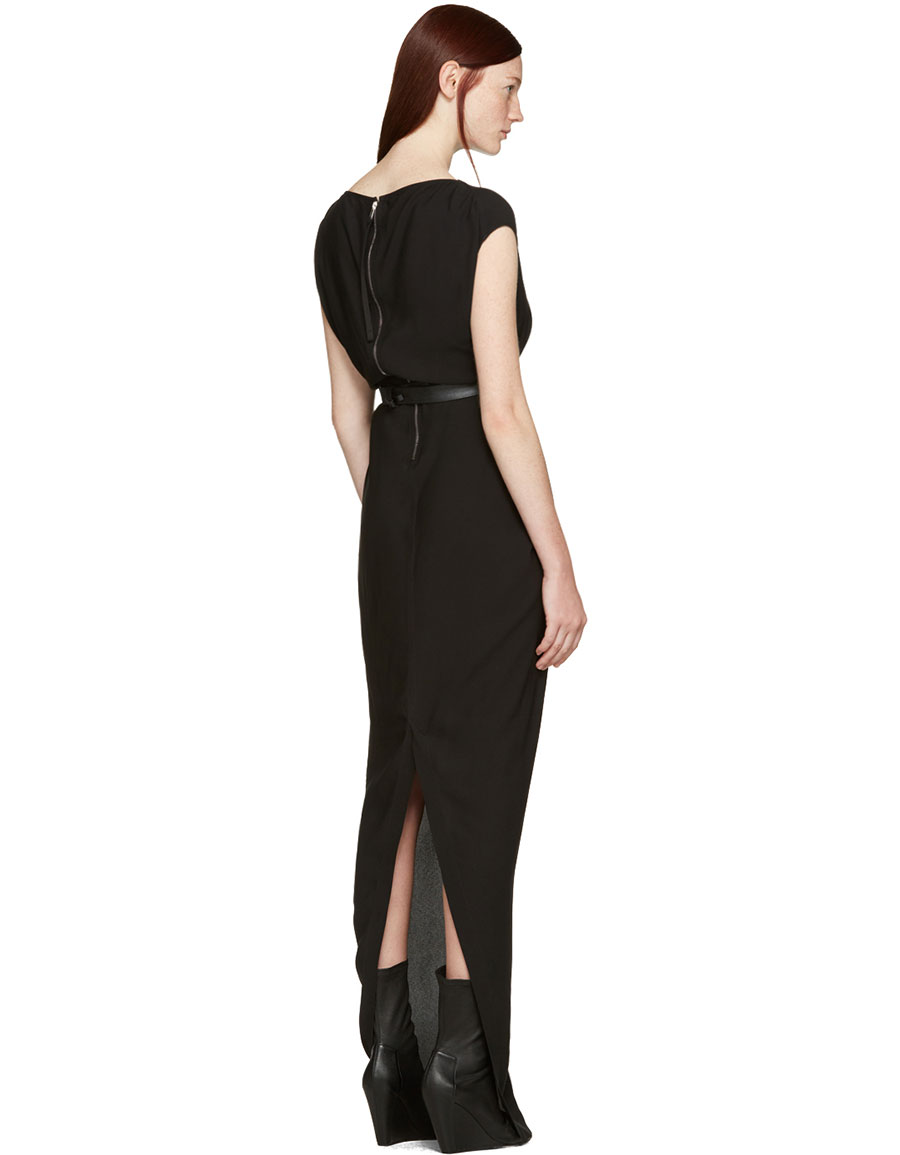 RICK OWENS Black Long Dagger Dress