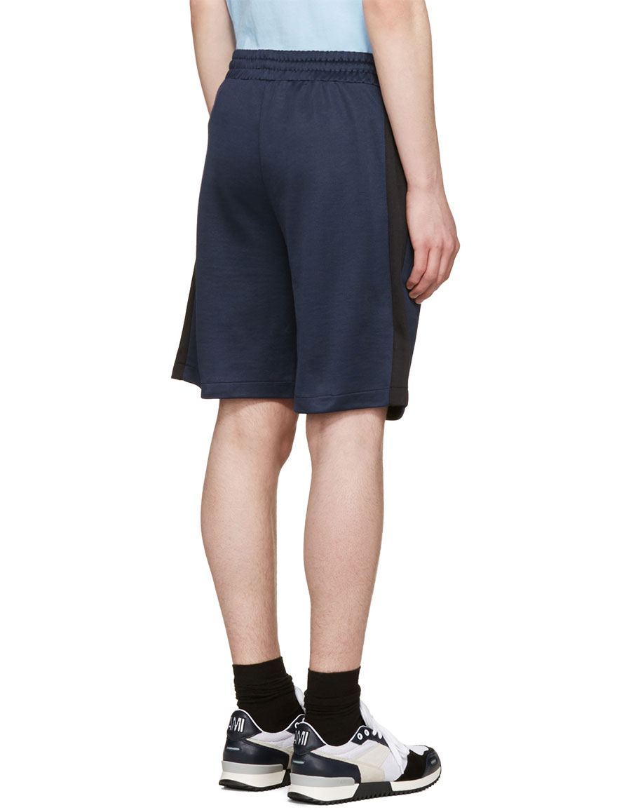 AMI ALEXANDRE MATTIUSSI Blue Track Shorts
