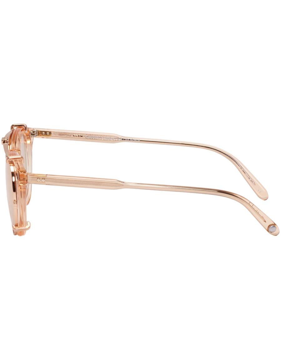 GARRETT LEIGHT Pink Milwood Clip On Sunglasses