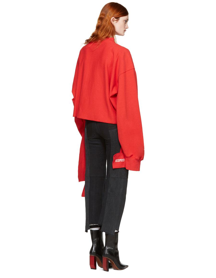 VETEMENTS Red Champion Edition In Progress Pullover