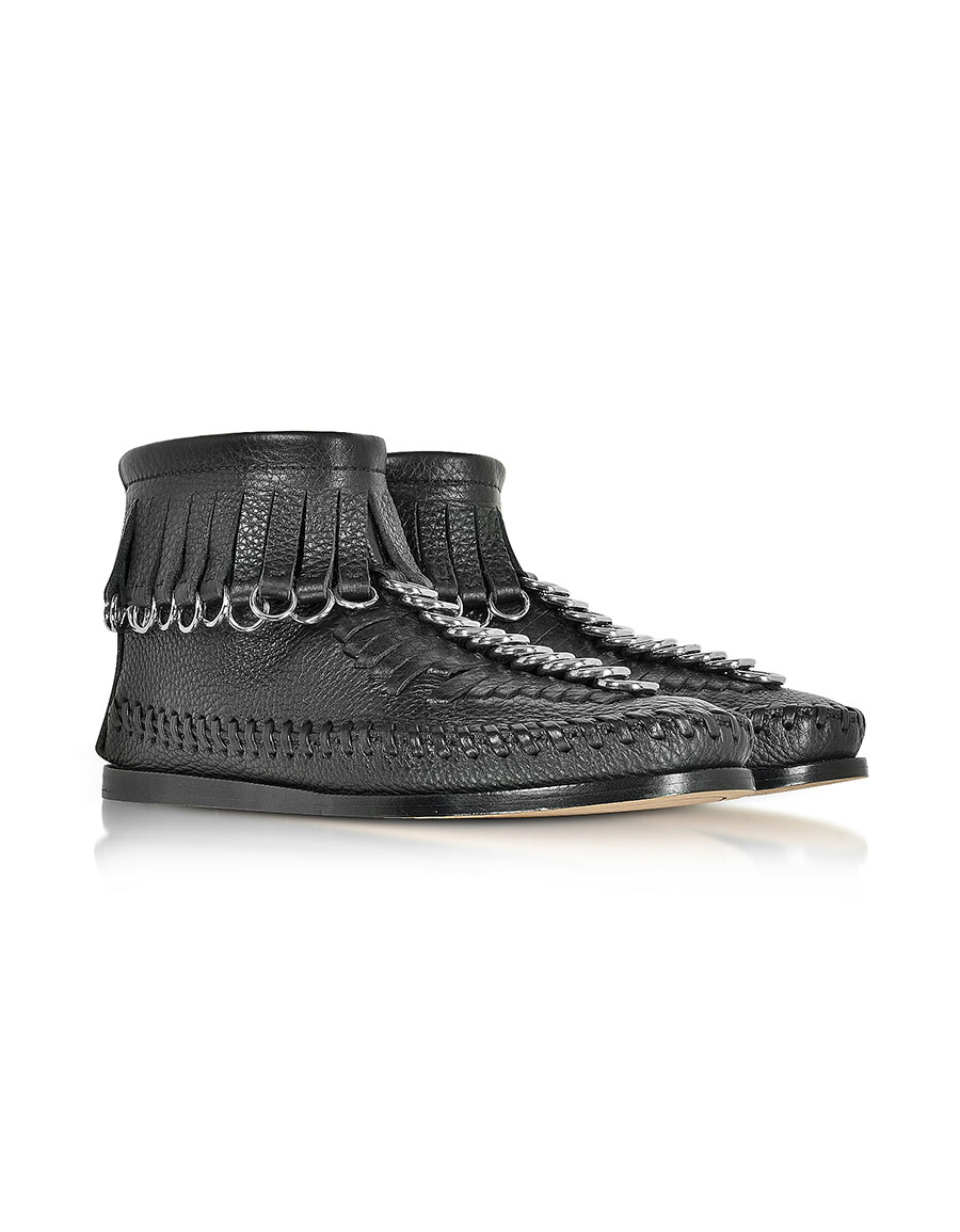 ALEXANDER WANG Montana Black Soft Pebble Leather Bootie