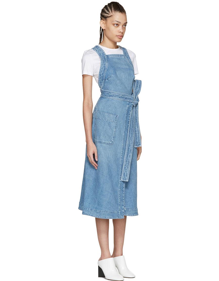 STELLA MCCARTNEY Blue Denim Apron Dress
