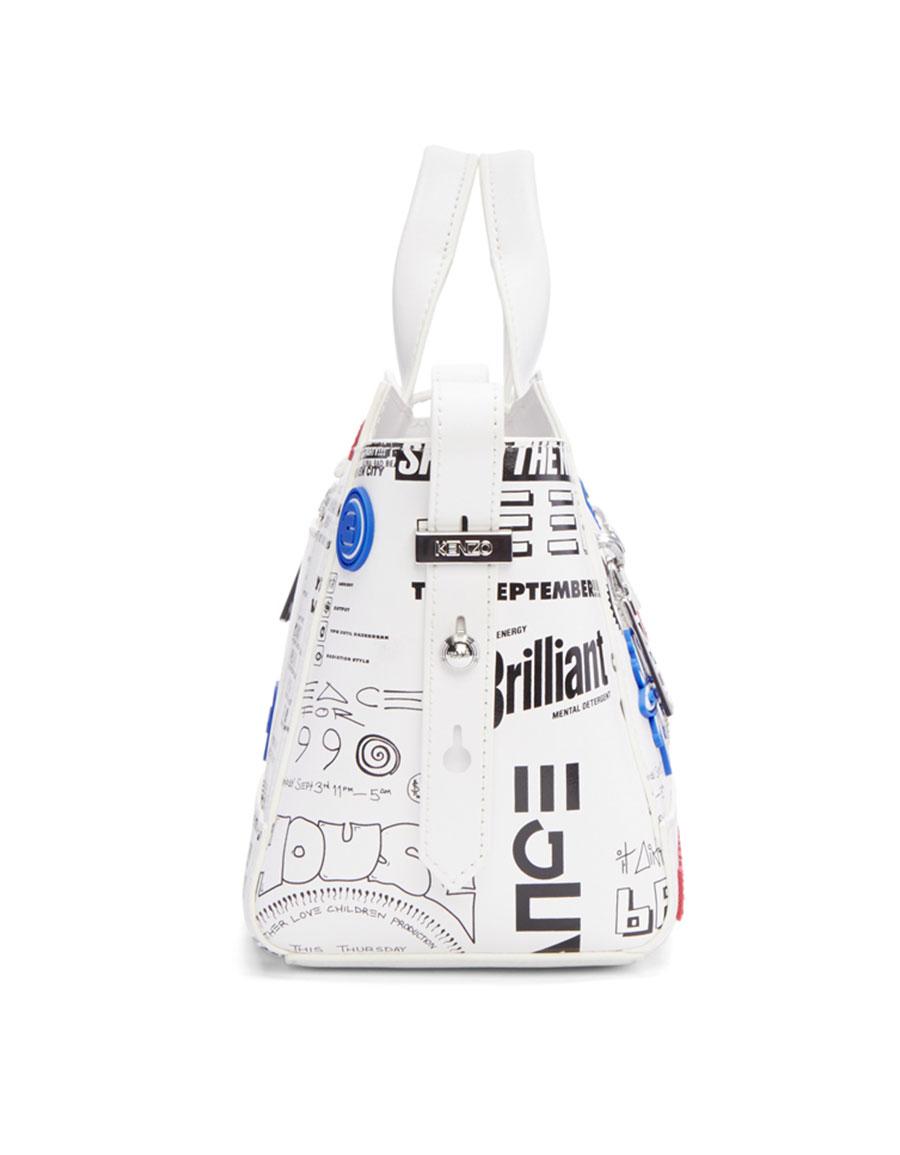 KENZO White Flyers Kalifornia Bag