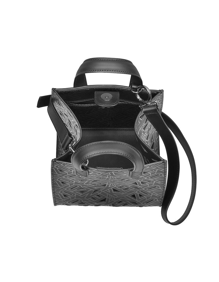 dfb62433722 KENZO Black Laser Cut Flying Logo Tote Bag · VERGLE