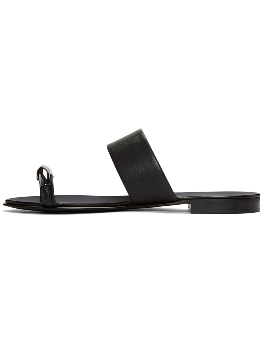 GIUSEPPE ZANOTTI Black Gim Sandals