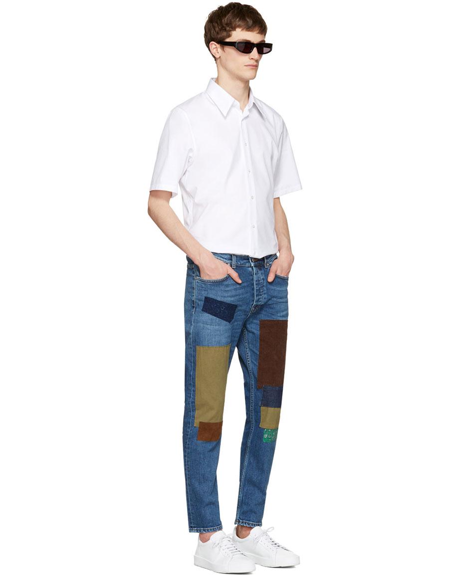 ACNE STUDIOS Indigo Town Patch Jeans