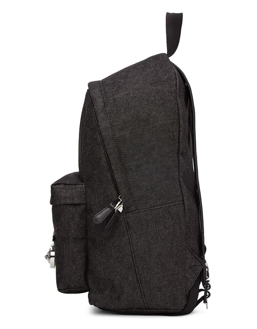 VERSUS Black Large Safety Pin Backpack
