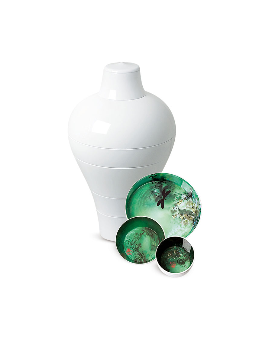 IBRIDE White Ming Vase / Stackable Bowls · VERGLE