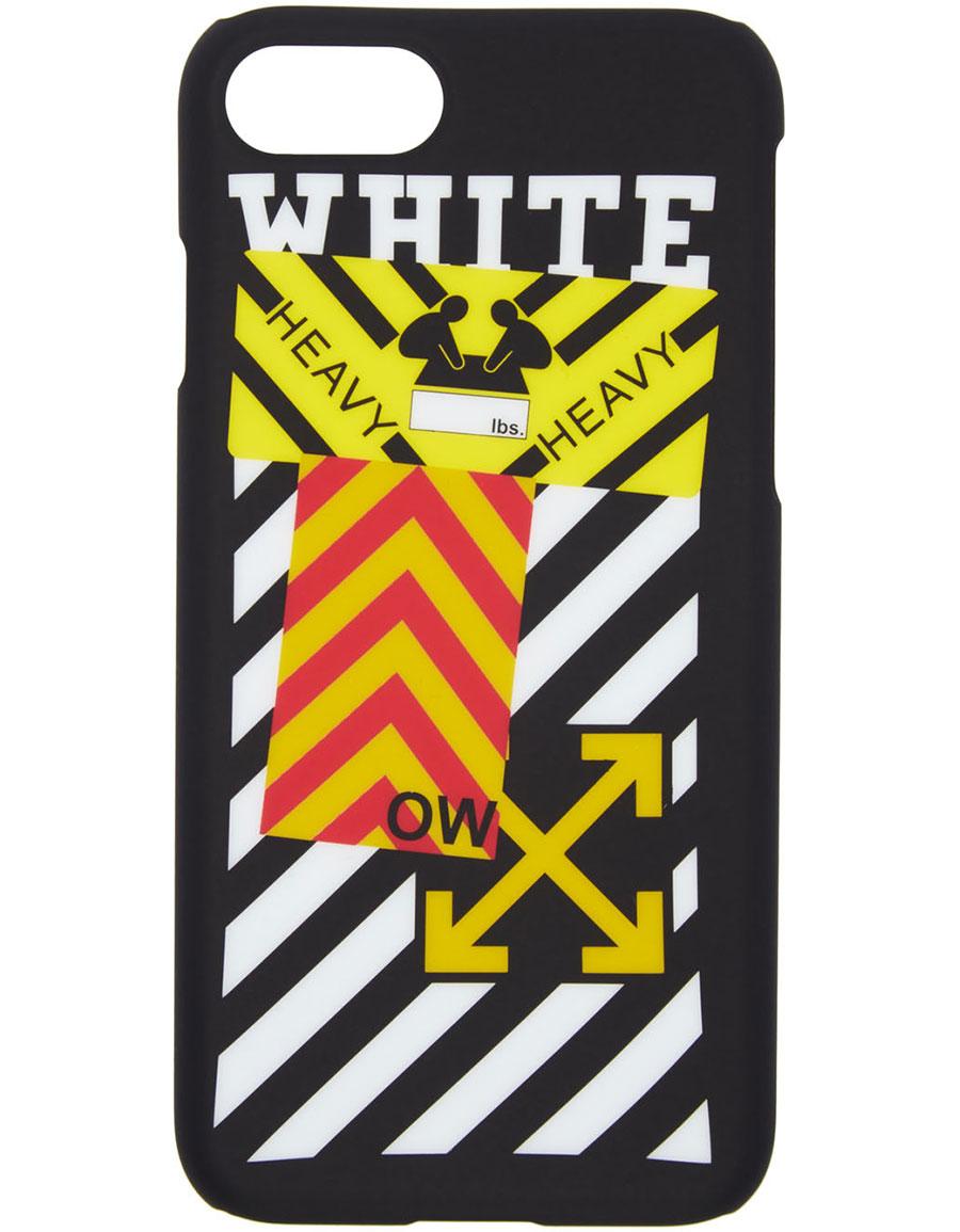 OFF WHITE Black Diagonal Sticker iPhone 7 Case