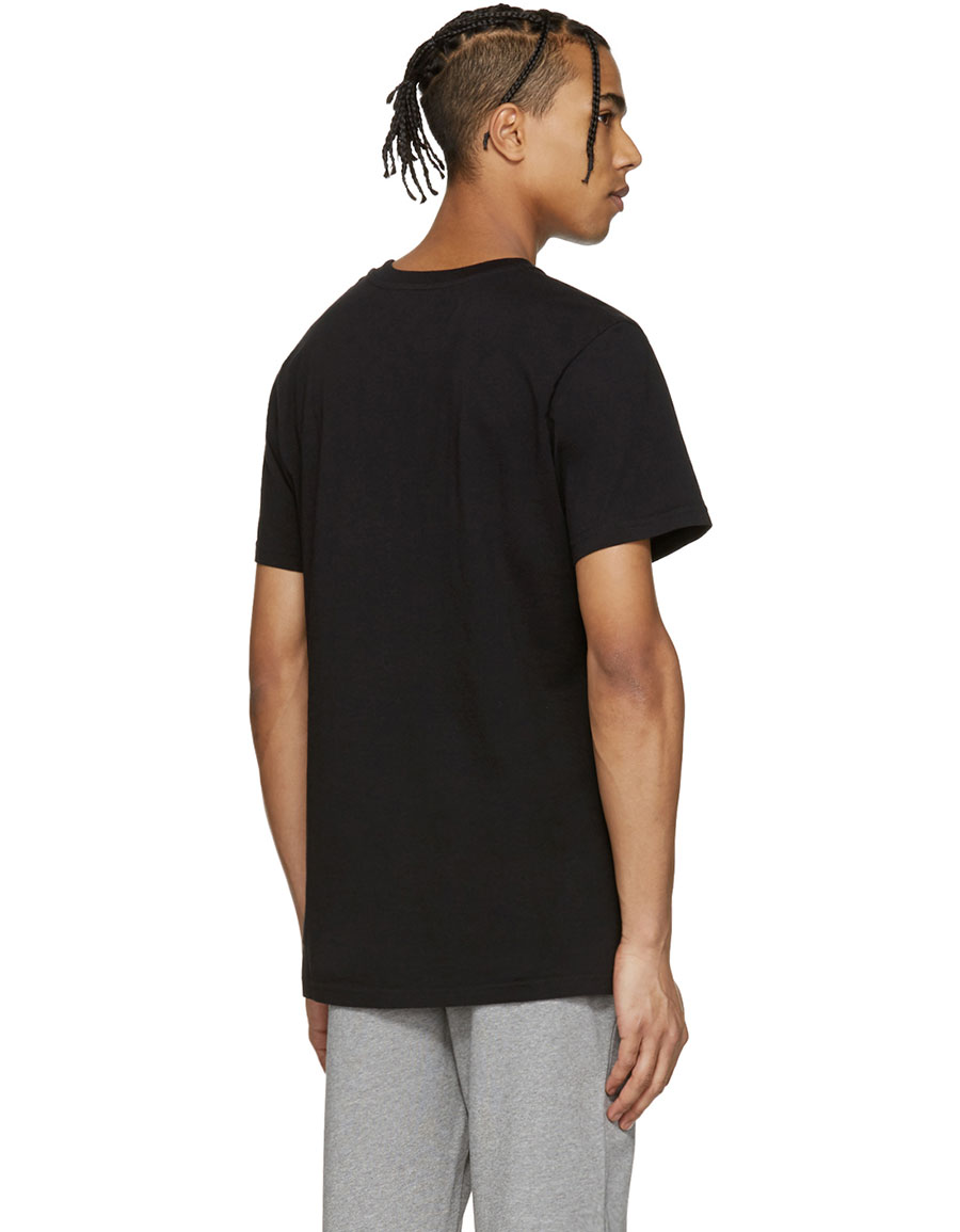 MOSCHINO Black Cut Out Logo T Shirt