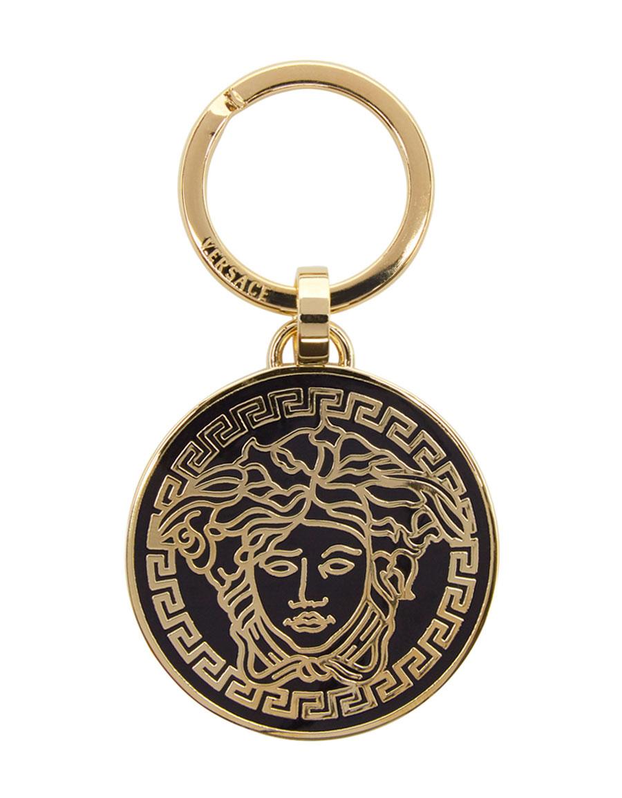 VERSACE Black Medusa Keychain