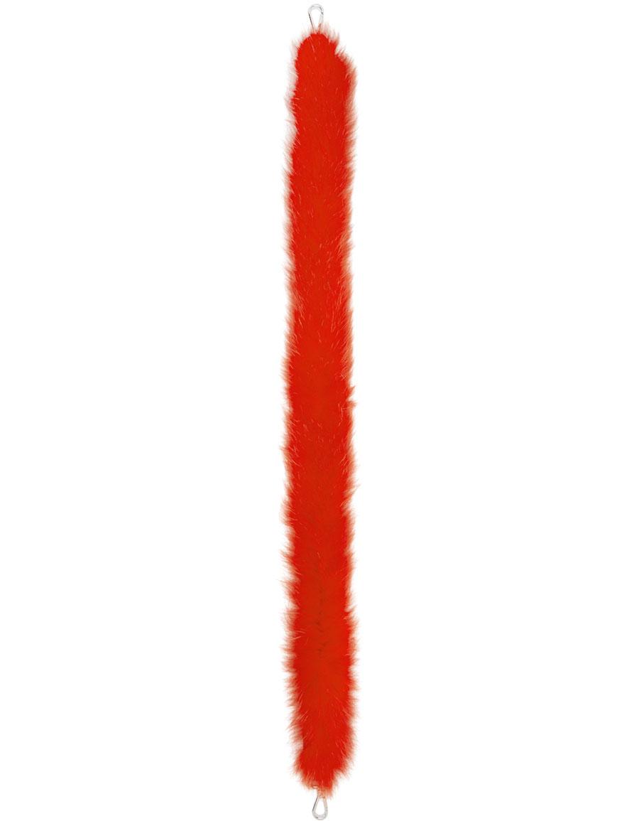 FENDI Red Fox Fur 'Strap You' Shoulder Strap