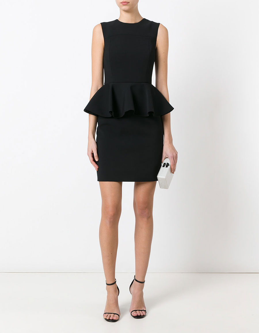 SAINT LAURENT Peplum waist mini dress