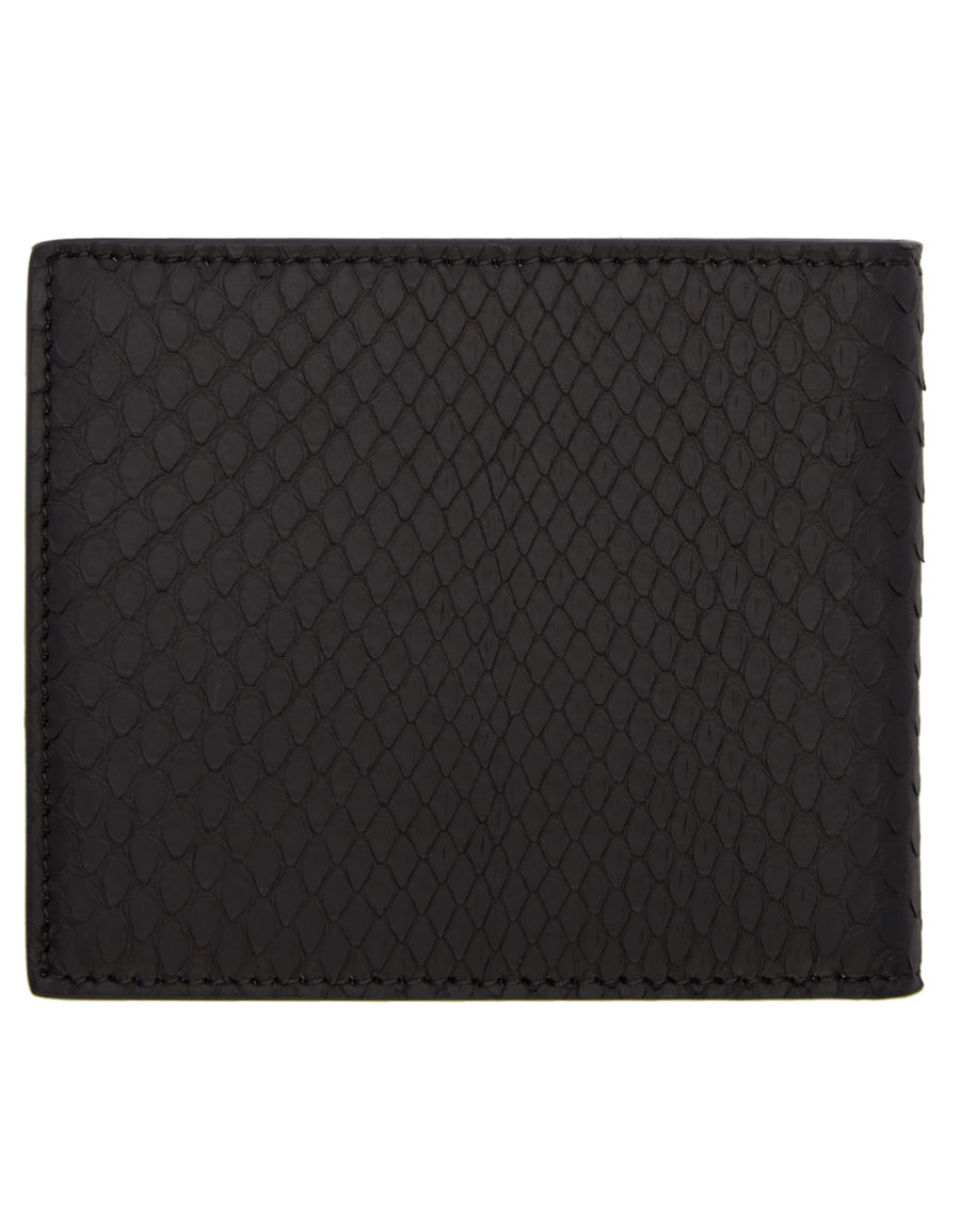 ea5ccce3 FENDI Black Python 'Fendi Faces' Wallet · VERGLE