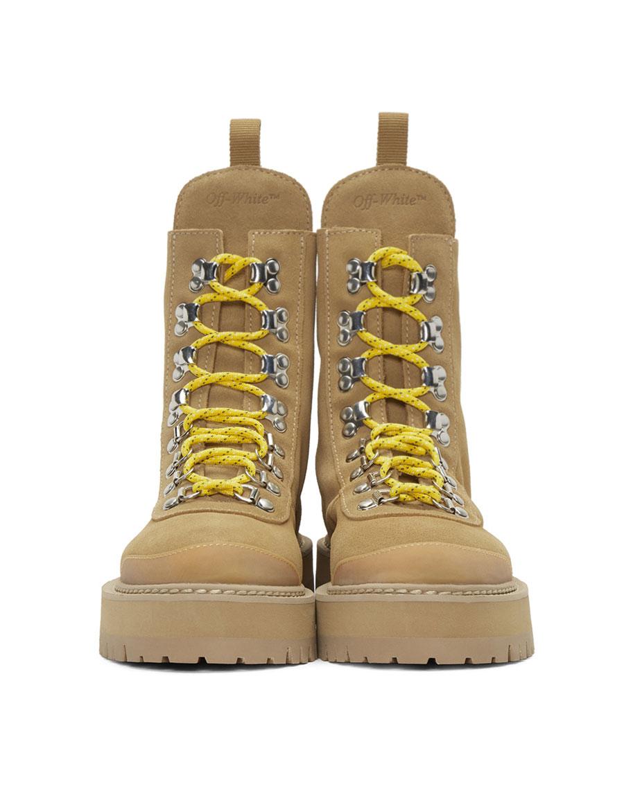 e3dba5fcdf186 OFF-WHITE Brown Suede Hiking Boots · VERGLE