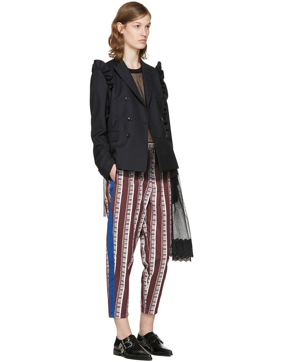 UNDERCOVER Burgundy Piano Trousers