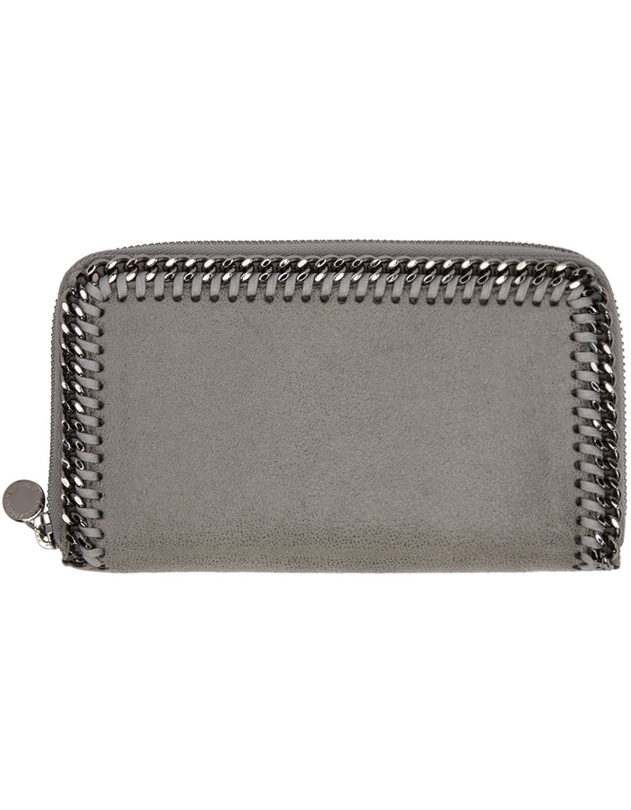 STELLA MCCARTNEY Grey Falabella Zip Wallet