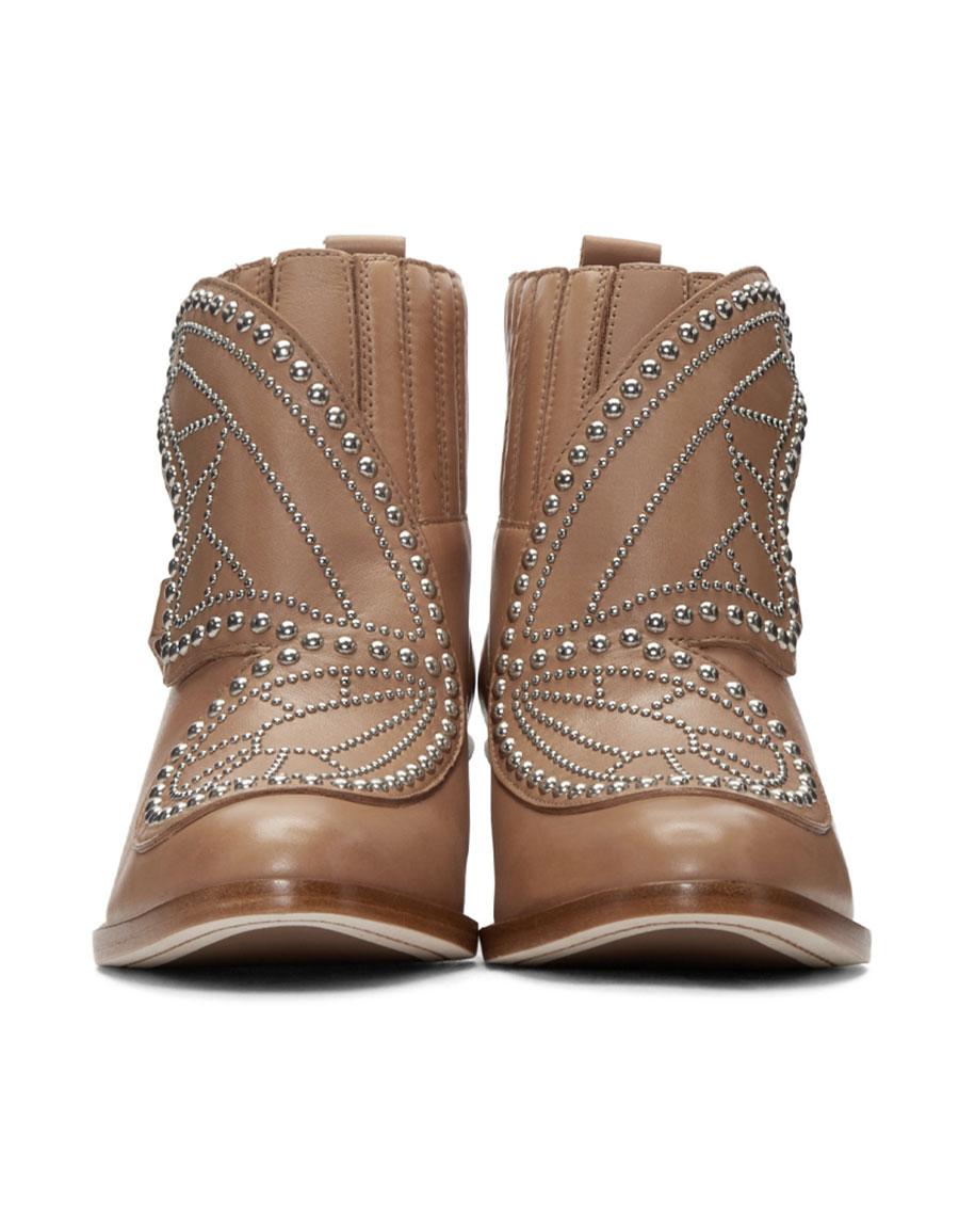 0315571c240 SOPHIA WEBSTER Tan Karina Boots · VERGLE