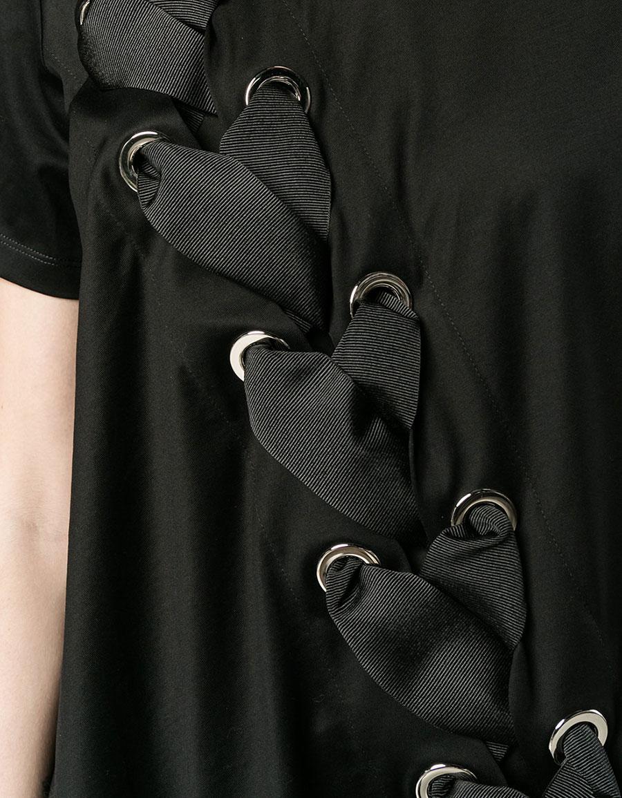 MARQUES ALMEIDA Lace up asymmetric top