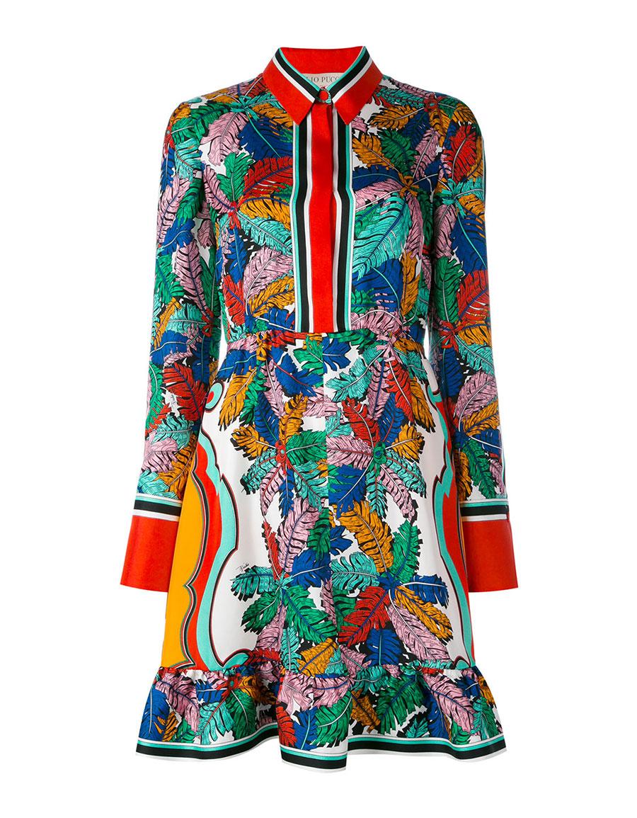 EMILIO PUCCI Leaf print dress