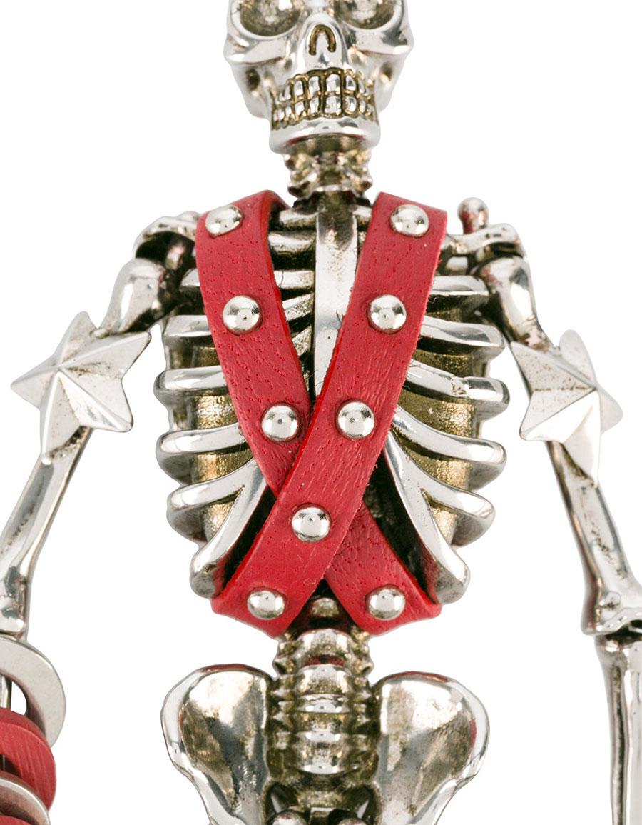 ALEXANDER MCQUEEN Harness skeleton keyring