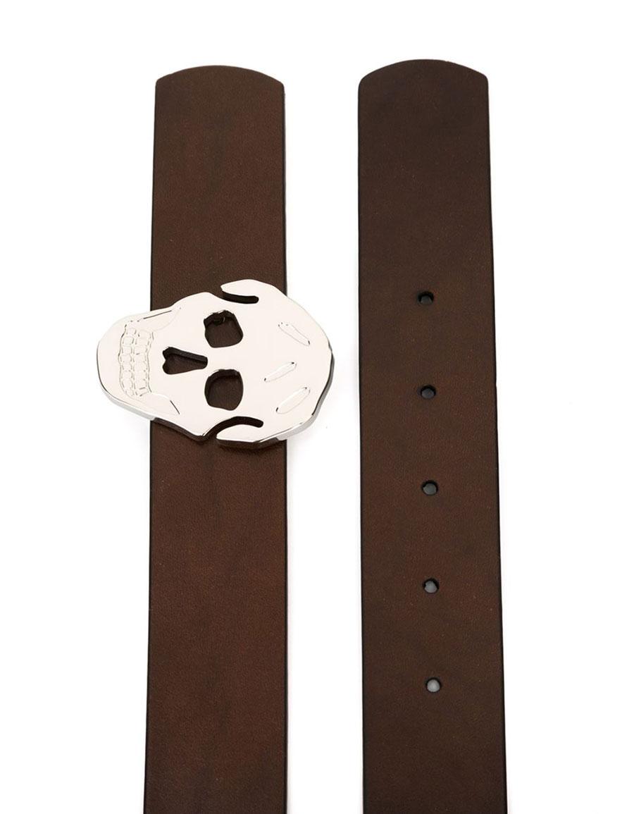 ALEXANDER MCQUEEN Skull buckle belt