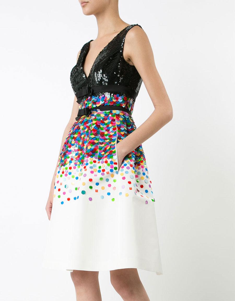 CAROLINA HERRERA Sequinned flared dress