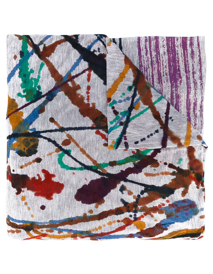 FALIERO SARTI Paint splash print scarf